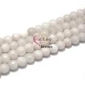 Fiada de Pedras Bolinhas Semi-Preciosas Brancas (8 mm) - [48 unds]