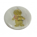 Pendente de Madrepérola Menino Dourado (28 mm)