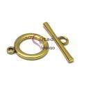 Fecho Metal Liso em T - Dourado (21 mm)