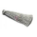 Pompom de Seda Comprido - Cinza (70 mm)