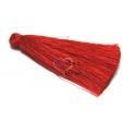 Pompom de Seda Comprido - Vermelho (70 mm)