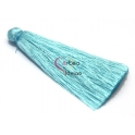 Pompom de Seda Comprido - Azul Claro (70 mm)