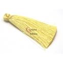 Pompom de Seda Comprido - Amarelo Claro (70 mm)