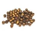 Pack Contas de Madeira Bolinha (8 mm)- Castanho - aprox. 100 unds
