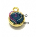 Pendente Cristal Swarovski SS39 Caribbean Blue Opal - Dourado (10 mm)
