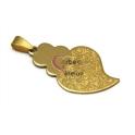 Pendente Aço Inox Viana Micro Gravado (2) - Dourado (40 x 25 mm)