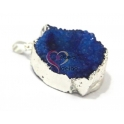 Pendente Geode Azul com Prateado (35 x 26)