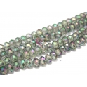 Fiada Contas de Cristal Facetadas - Aqua Green AB (8x6mm)