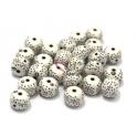 Pack de Pedras Brancas com Pintinhas (10 x 8 mm) - [25 unds]