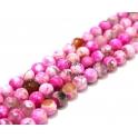 Fiada de Pedras Bolinhas Semi-Preciosas Rosa Mesclado (8 mm) - [48 unds]