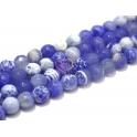 Fiada de Pedras Bolinhas Semi-Preciosas Azuis Mescladas (8 mm) - [48 unds]