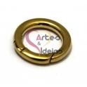 Fecho Aço Inox Redondo - Dourado (20 mm)
