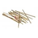 Pack Alfinetes Aço Cabeça de Prego [30mm] - Dourado (aprox. 18unds)