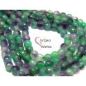 Fiada de Pedras Bolinhas Semi-Preciosas Verde e Lilás (8 mm) - [48 unds]