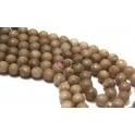 Fiada de Pedras Bolinhas Semi-Preciosas Castanho Claro (8 mm) - [48 unds]