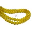 Fiada de Pedras Bolinhas Semi-Preciosas Amarelo (8 mm) - [48 unds]