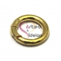 Argola ou Fecho Metal Liso de Mola - Dourado (20mm)
