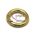 Argola ou Fecho Metal Liso de Mola - Dourado