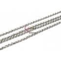 Corrente Aço Inox Elo Redondo (2mm) - Prateado [1 metro]