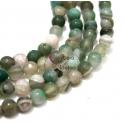 Fiada de Pedras Bolinhas Semi-Preciosas Verde Mescla (8 mm) - [48 unds]