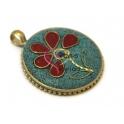 Pendente Estilo Tibetano Flor (30mm)