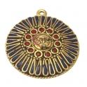 Pendente Estilo Tibetano Medalhão Solar (50mm)