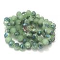 Fiada Contas de Cristal Facetadas - Verdes (8x6mm)