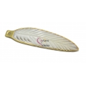 Pendente Madrepérola Pena com Dourado (70x18mm)
