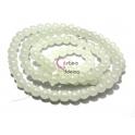 Fiada de Contas Acrílicas - Branco Translucido (8 mm) - [aprox. 100 unds]