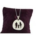 Fio Aço Familia Casal com Menino (modelo 1) - Prateado