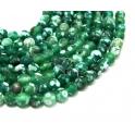 Fiada de Pedras Bolinhas Semi-Preciosas Ágata Verde Mesclada (8 mm) - [48 unds]