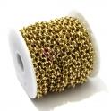 Corrente Aço Inox Elo Redondo (5mm) - Dourado [1 metro]