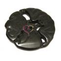 Pendente Medalhão Jade [mod 99] - Preto (65 mm)