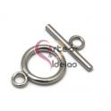 Fecho Aço Inox em T (14 mm) - Prateado