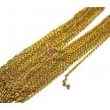Pack Corrente Aço Inox Elo Oval (2 x 3 mm) - Dourado [5 metros]