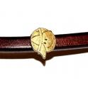 Conta Metal Cara Menino - Bronze (Extra-Grosso)