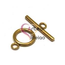 Fecho Aço Inox em T (14mm) - Dourado