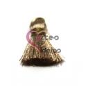 Pompom de Seda com Argola - Bege (20 mm)