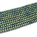 Fiada Contas de Cristal Facetadas - Azul e Verde Frost (8 x 6) - [aprox. 72 unds]