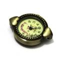 Mostrador de Relógio 2 Corações - Dourado Velho