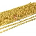 Corrente Aço Inox Malha Dupla (4 mm) - Dourado [1 metro]