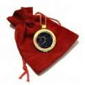 Fio Aço Medalhão Change Brilho Azul - Dourado [Saco Oferta]