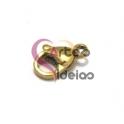 Fecho Aço Inox Mosquetão - Dourado (7x11mm)