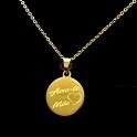 Fio Aço Inox Medalha Amo-te Mãe - Dourado