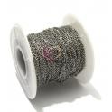 Corrente Aço Inox Fininha (2 x 1mm) - Prateado [1 metro]