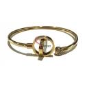 Pulseira Aço Eye Twist - Dourada