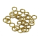 Argolas Aço Inox 7 mm - Douradas (Aprox 30 und)