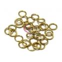 Argolas Aço Inox 7 mm - Douradas (Aprox 25 und)