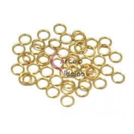Argolas Aço Inox 5 mm - Douradas (Aprox 50 und)