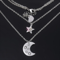 Fio Aço Inox Estrela e Lua - Prateado